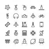 Věda a technika linie vektorové ikony 15