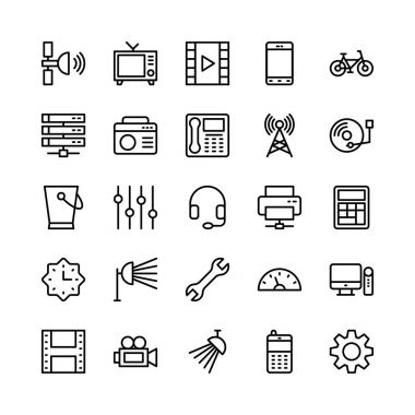 Science and Technology Line Vector Icons 10