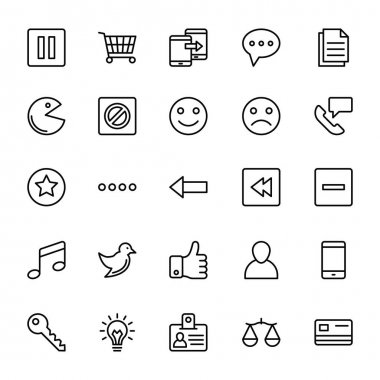 A collection of Web Mobile Ui Vector Icons that you can easily integrate in your design and the cool thing is, that there are so many of them, you will definitely find something you need in here. clip art vector
