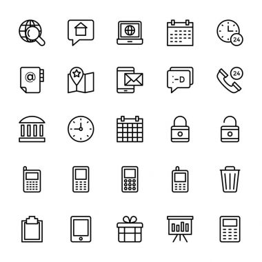 Web and Mobile UI Line Vector Icons 17