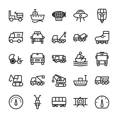 Automobile Line Vector Icons 3
