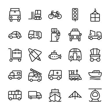 Automobile Line Vector Icons 2