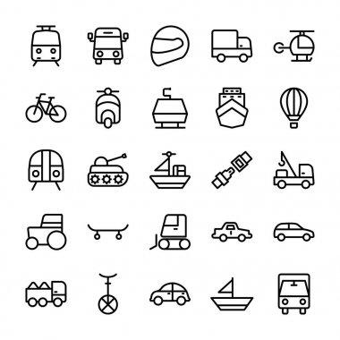 Automobile Line Vector Icons 1