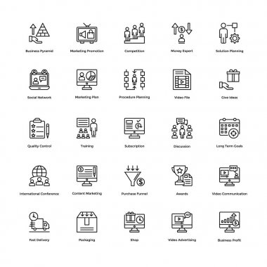 Business and Financial Icons Vector 11
