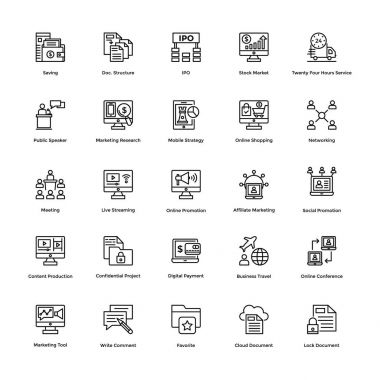 Business and Financial Icons Vector 12