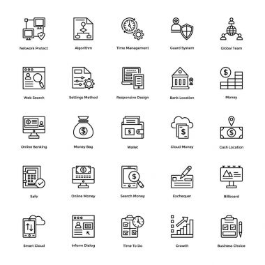 Business and Financial Icons Vector 13