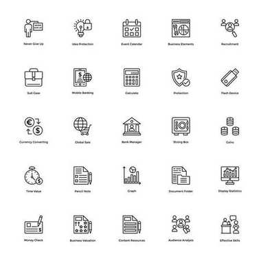 Business and Financial Icons Vector 17