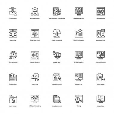 Business and Financial Icons Vector 24