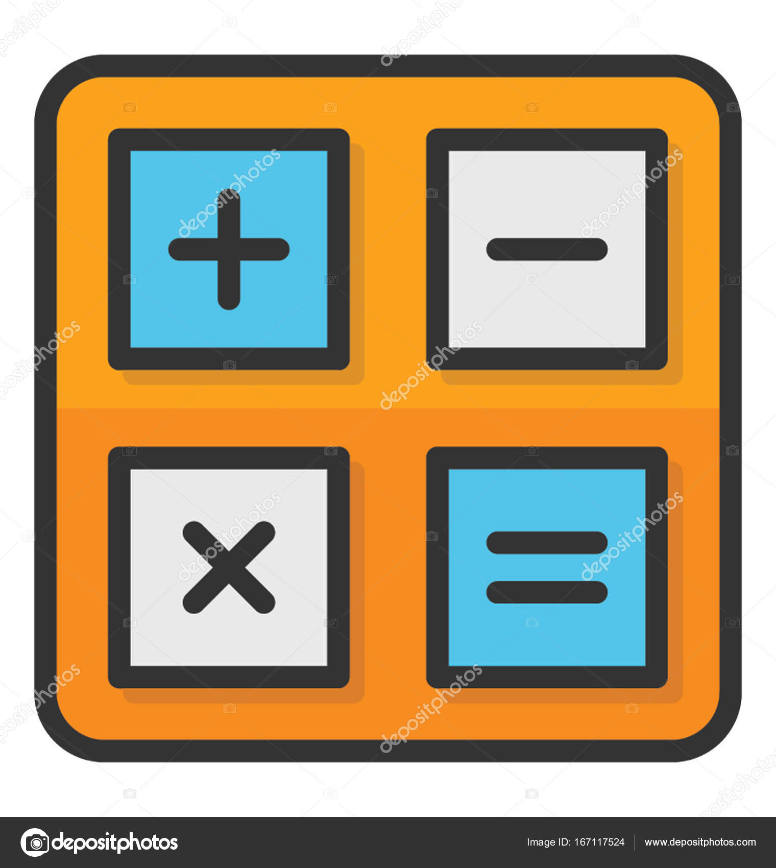 Math Symbols Vector Icon Stock Vector Vectorsmarket 167117524
