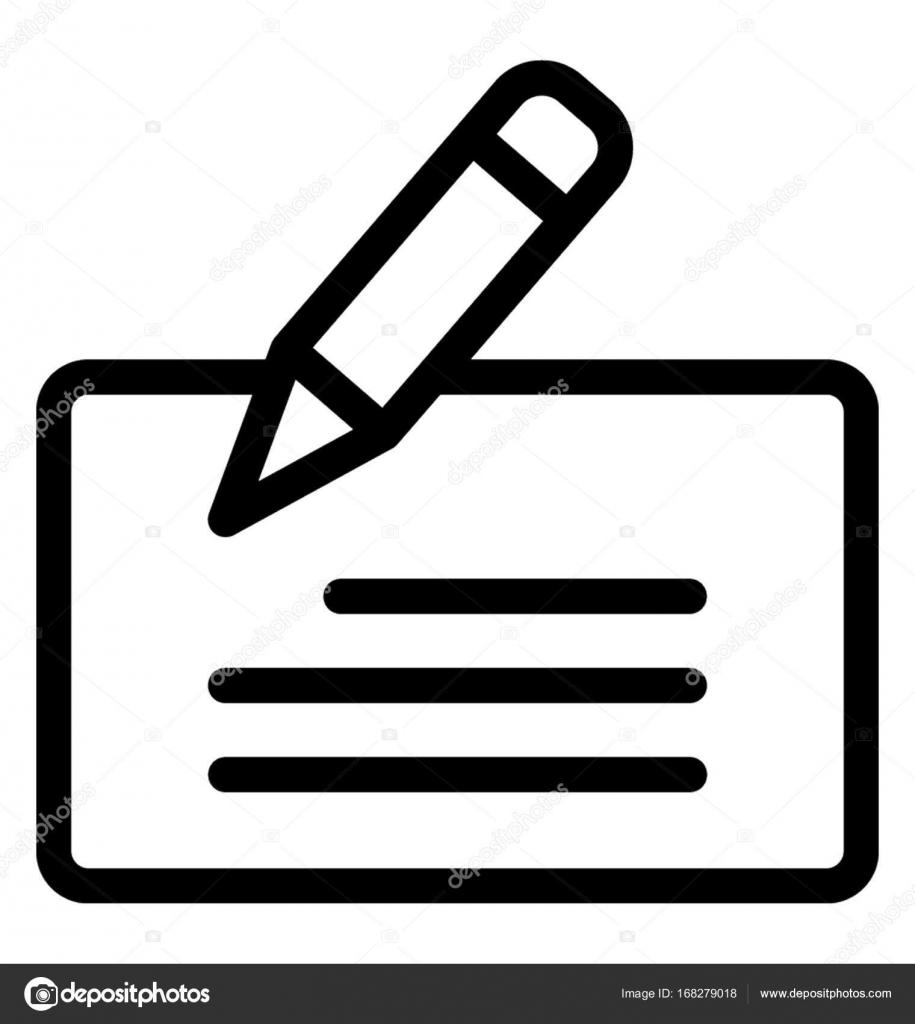 Icono de Vector de línea de escritura — Archivo Imágenes Vectoriales ...