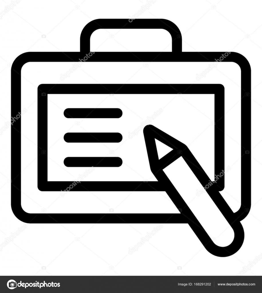 Icono de Vector de línea de escritura — Vector de stock ...