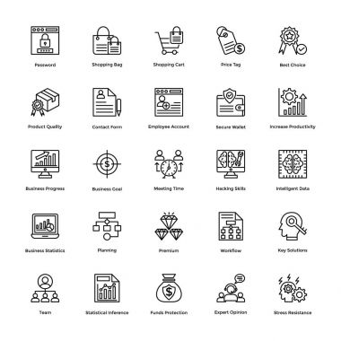 Project Management Vector Icons Set 9