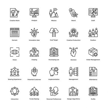 Project Management Vector Icons Set 11