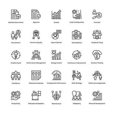 Project Management Vector Icons Set 12