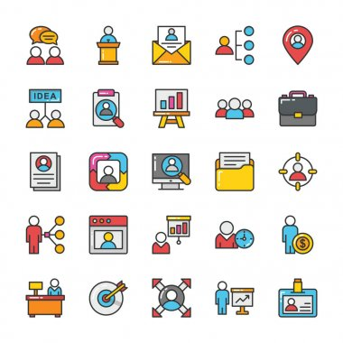 Human Resource Vector Icons Set 2