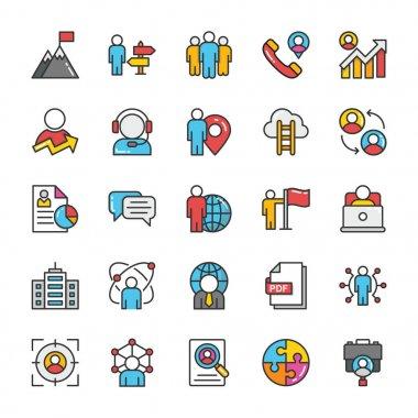 Human Resource Vector Icons Set 4