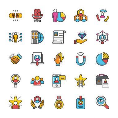 Human Resource Vector Icons Set 5