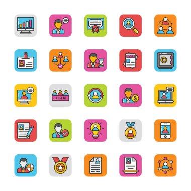 Human Resource Vector Icons Set 1