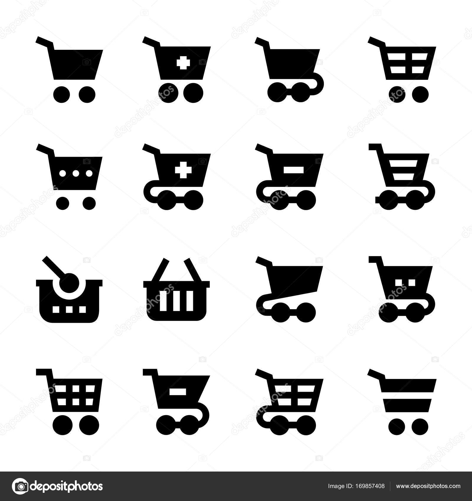 Shopping Cart Vector Icons 2– stock illustration