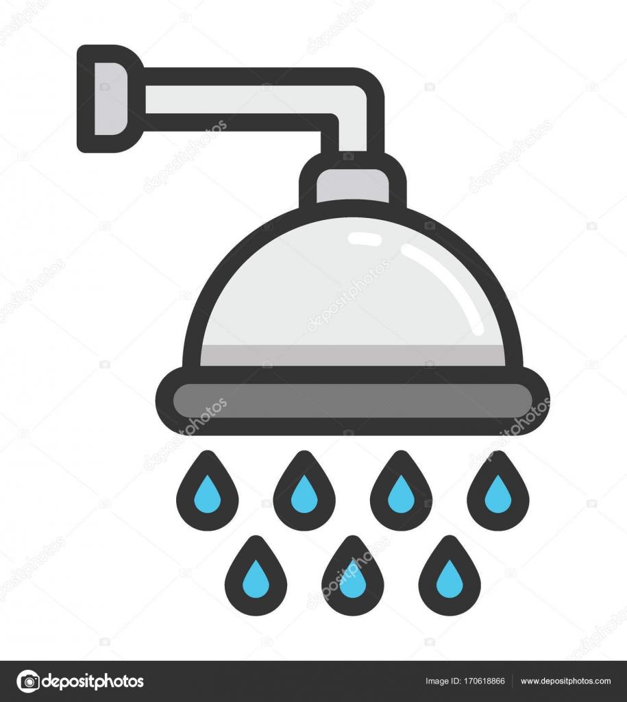 Bath Shower Vector Icon Stock Vector C Vectorsmarket 170618866