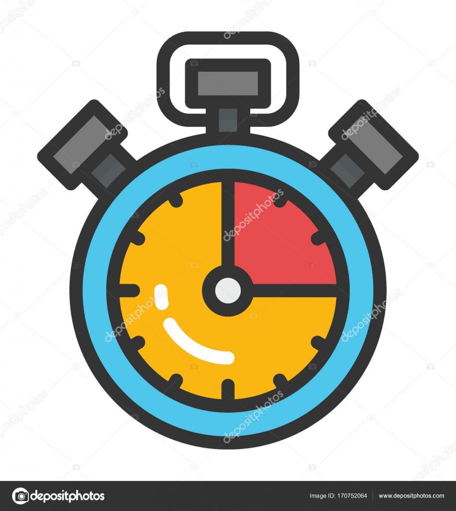 Stopwatch Vector Icon — Stock Vector © vectorsmarket #170752064