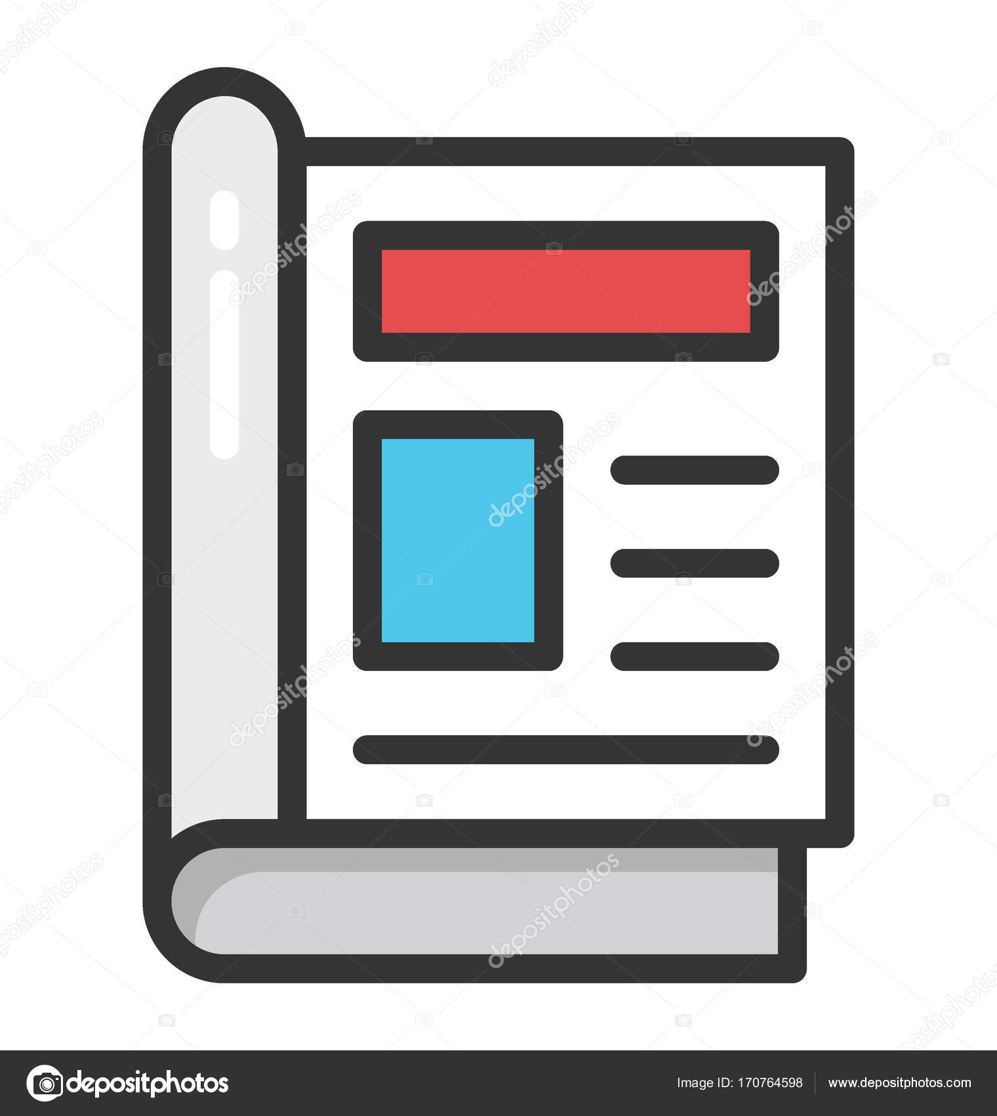 magazine article vector icon � stock vector