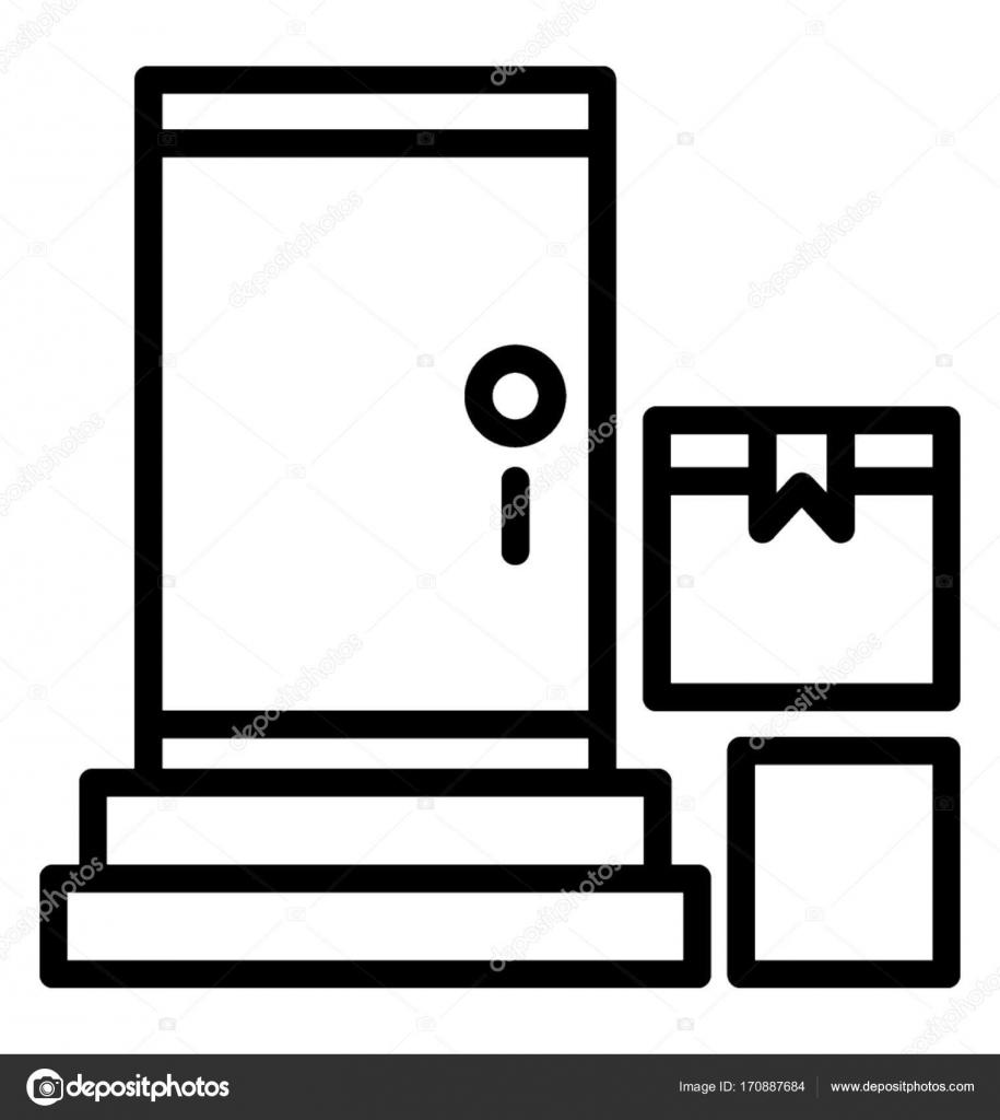 e2ce544d6761 Доставка от двери до двери Векторный Icon — Векторное изображение ...