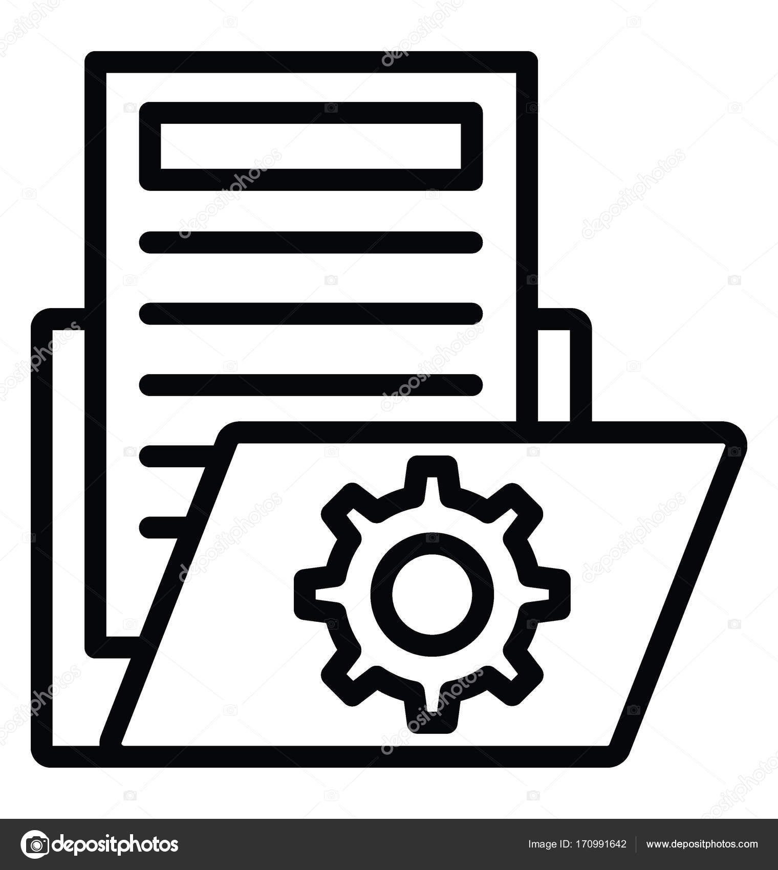 document management vector icon � stock vector