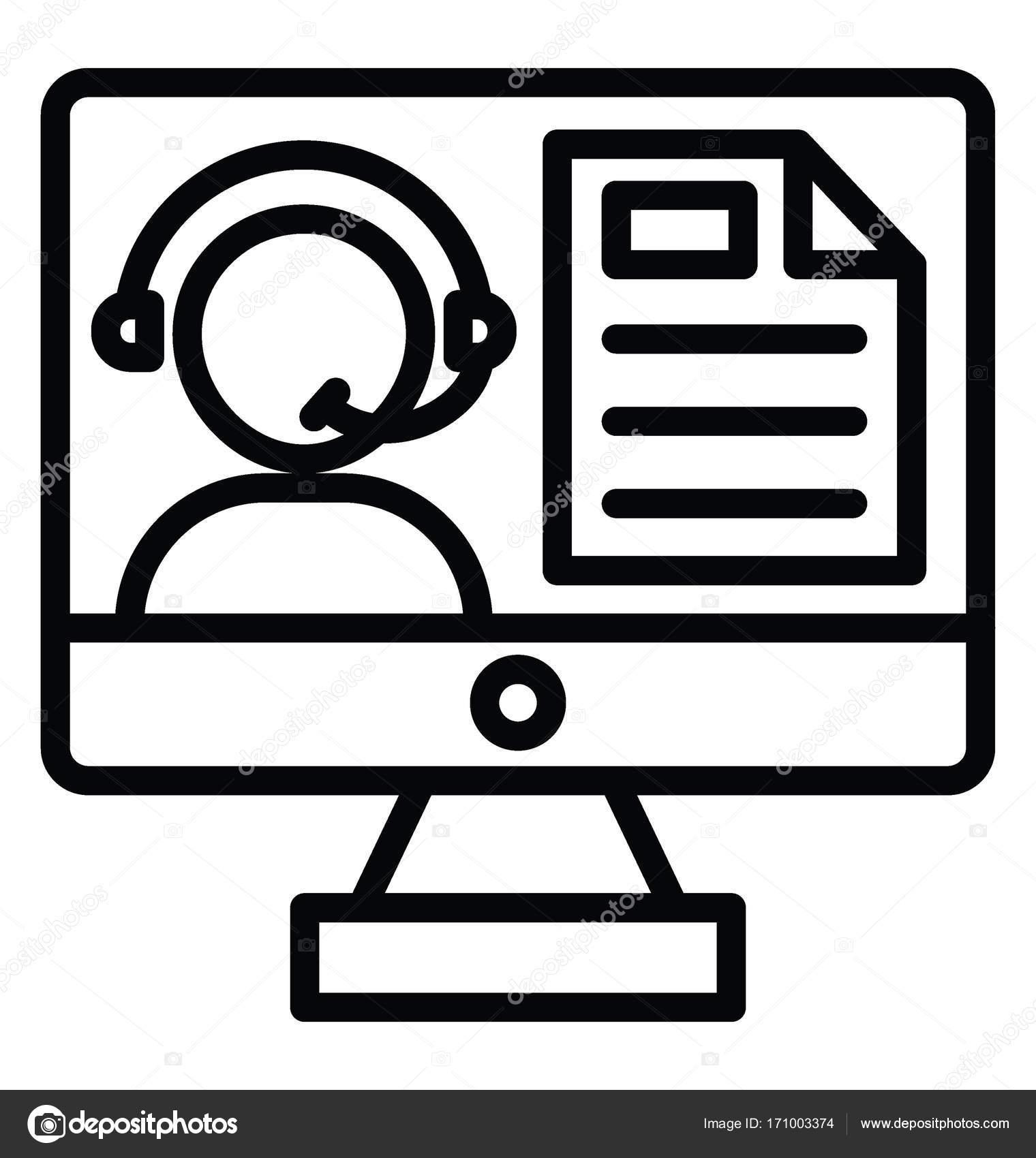 Online Consultation Vector Icon — Stock Vector © vectorsmarket