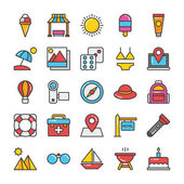 Hotel and Travel Colored Vector Icons Set 4