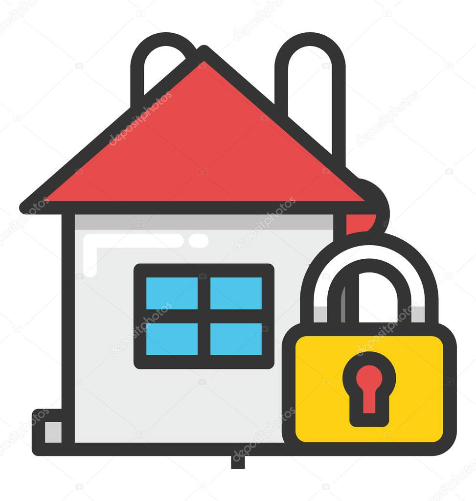 Home Protection Vector Icon