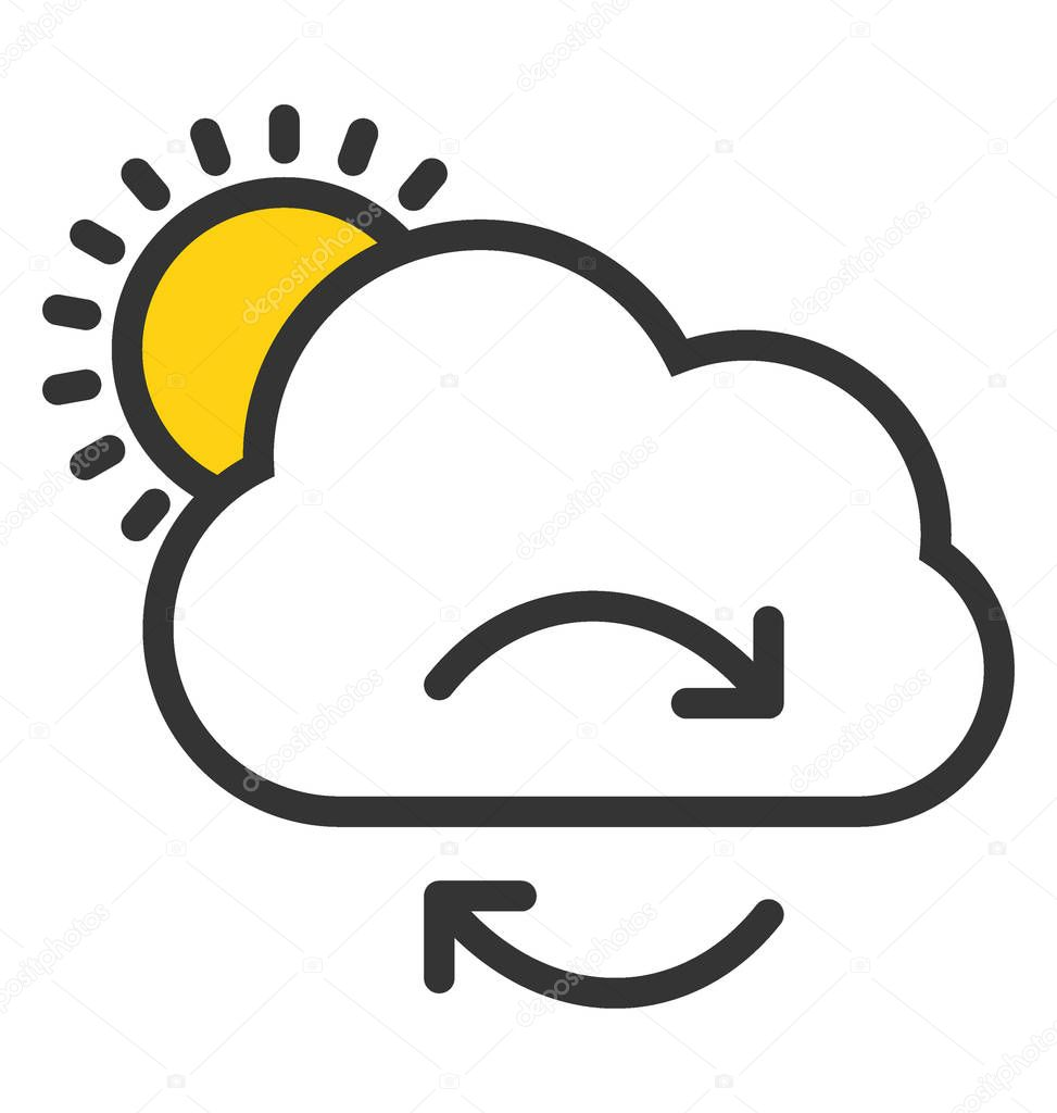 Weather Changes Vector Icon