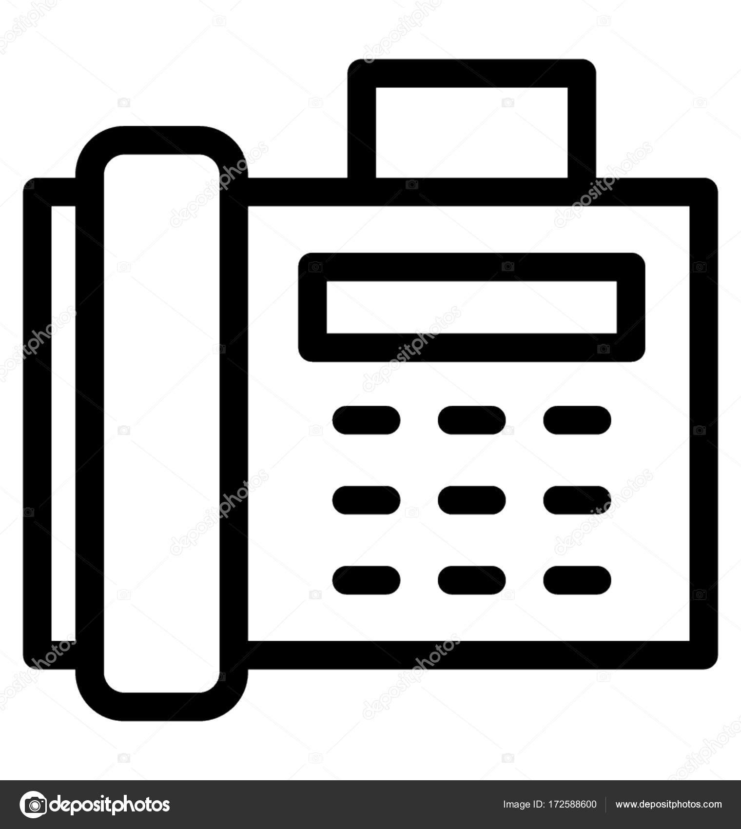 fax vector icon stock vector c vectorsmarket 172588600 https depositphotos com 172588600 stock illustration fax vector icon html