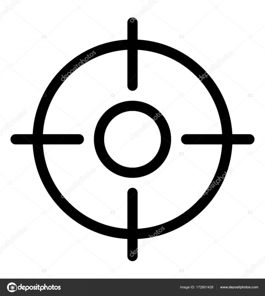 crosshair vector icon stock vector vectorsmarket 172801428 rh depositphotos com
