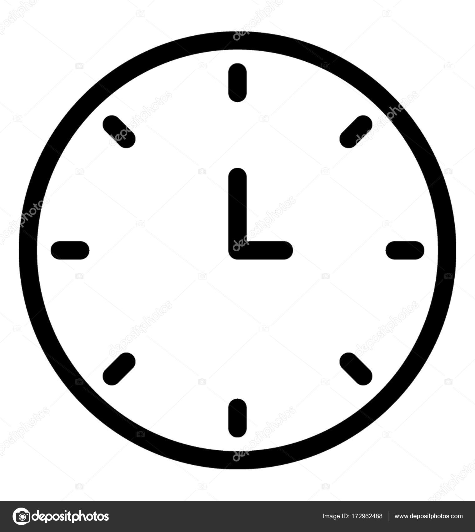 clock vector image Clock Vector Icon — Stock Vector © vectorsmarket #172962488