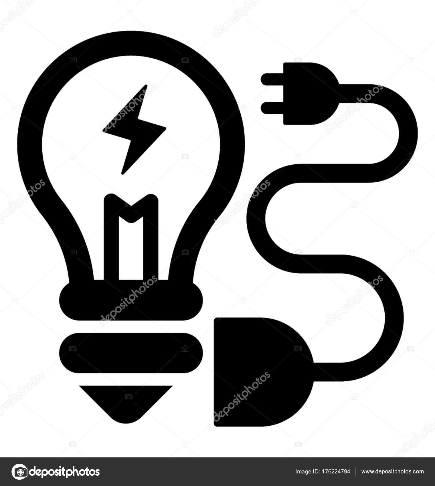 Strom Power Supply Glyphe Symbol — Stockvektor © vectorsmarket ...