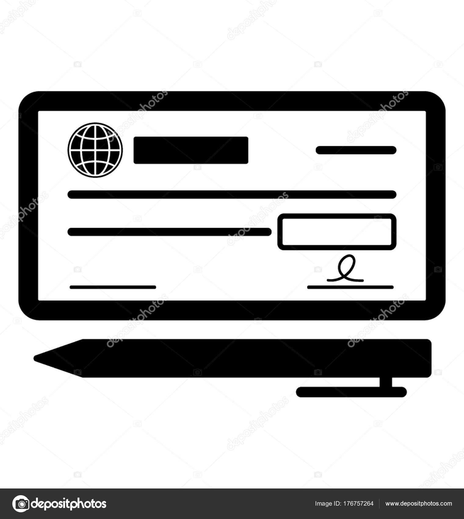bank check payment glyph vector icon stock vector vectorsmarket rh depositphotos com bank check clip art image Check Money Clip Art