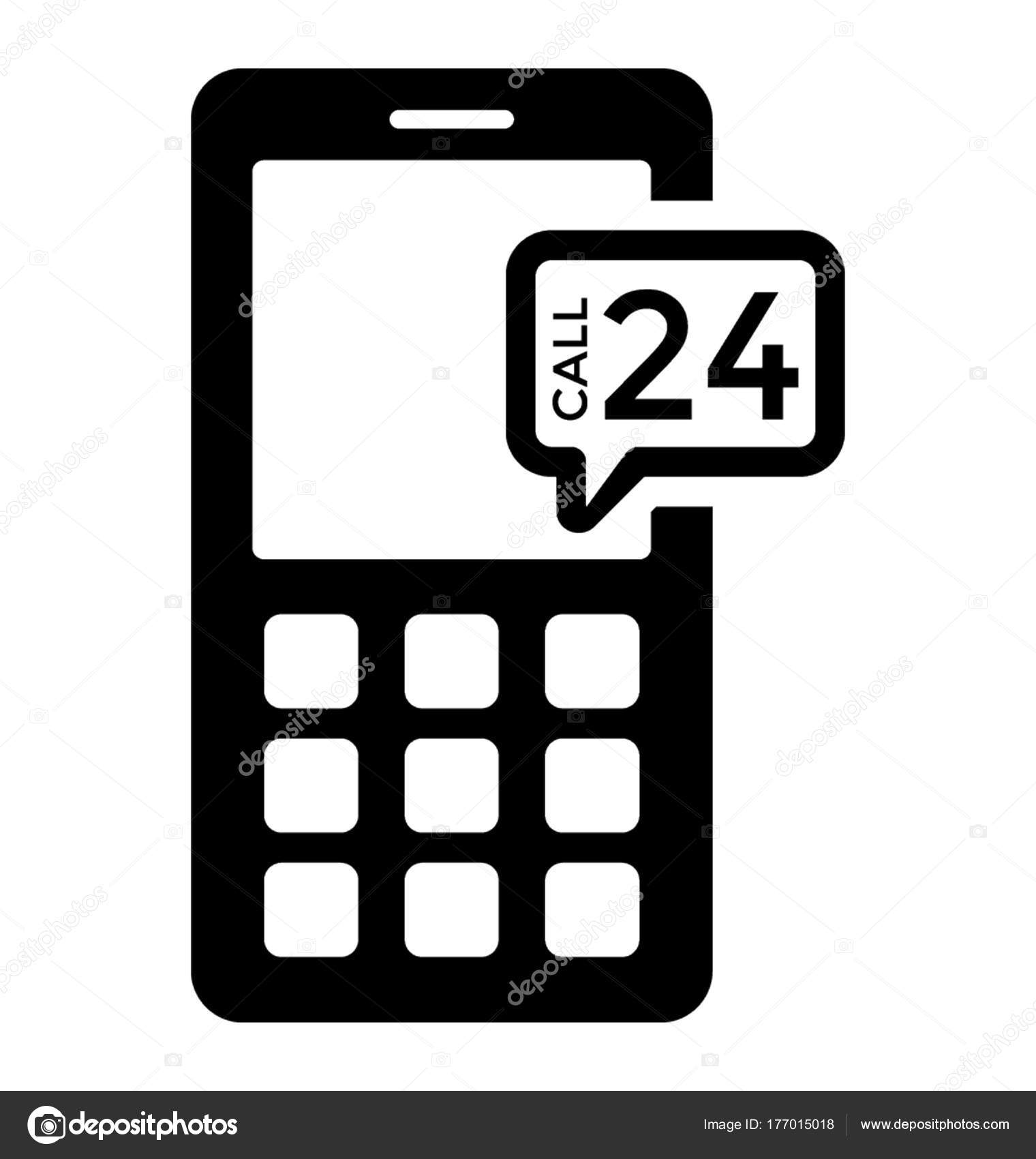 Cell Phone Customer Service Glyph Icon — Stock Vector
