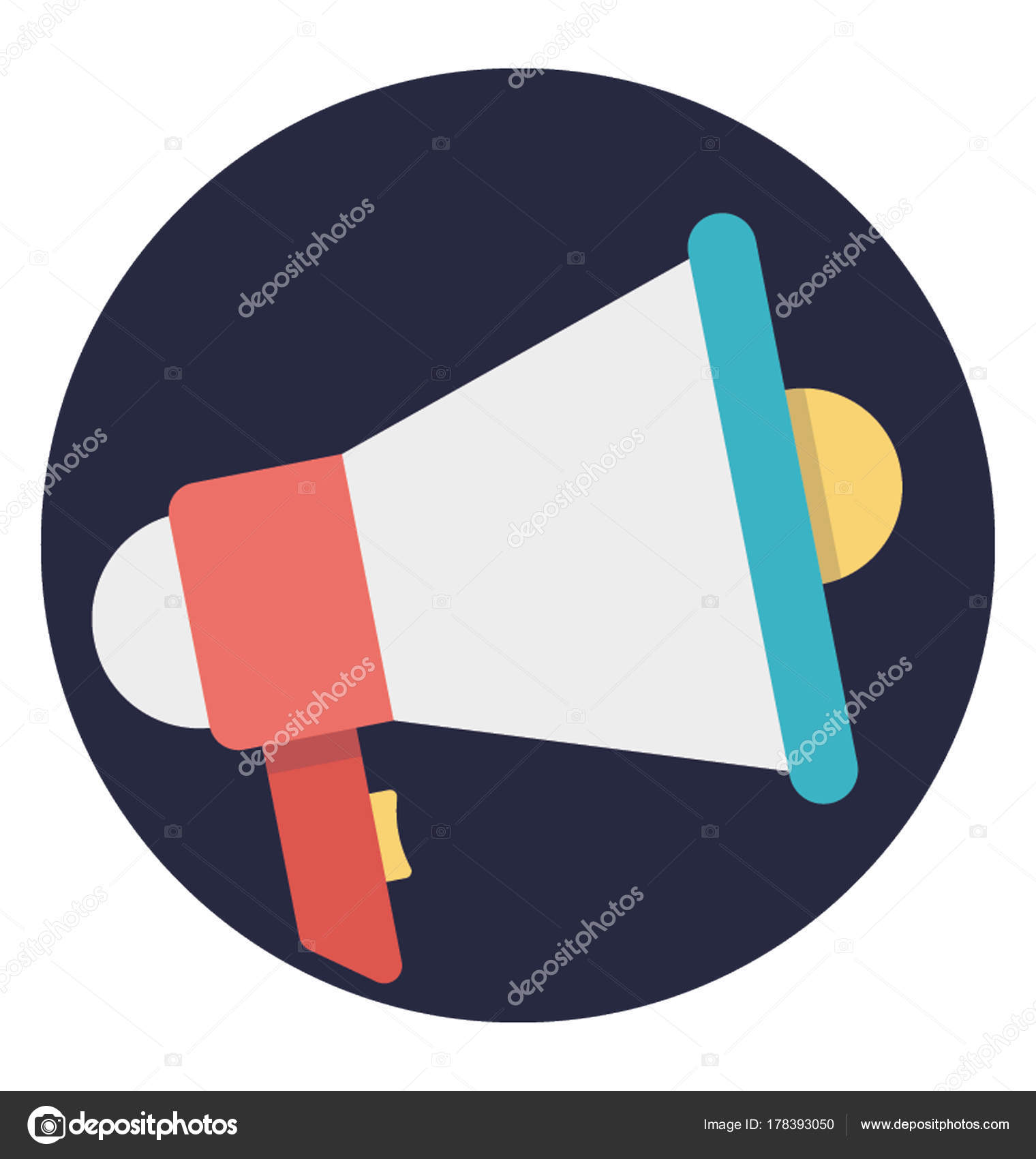 flat design loudspeaker vector icon symbol announcement stock vector c vectorsmarket 178393050 depositphotos