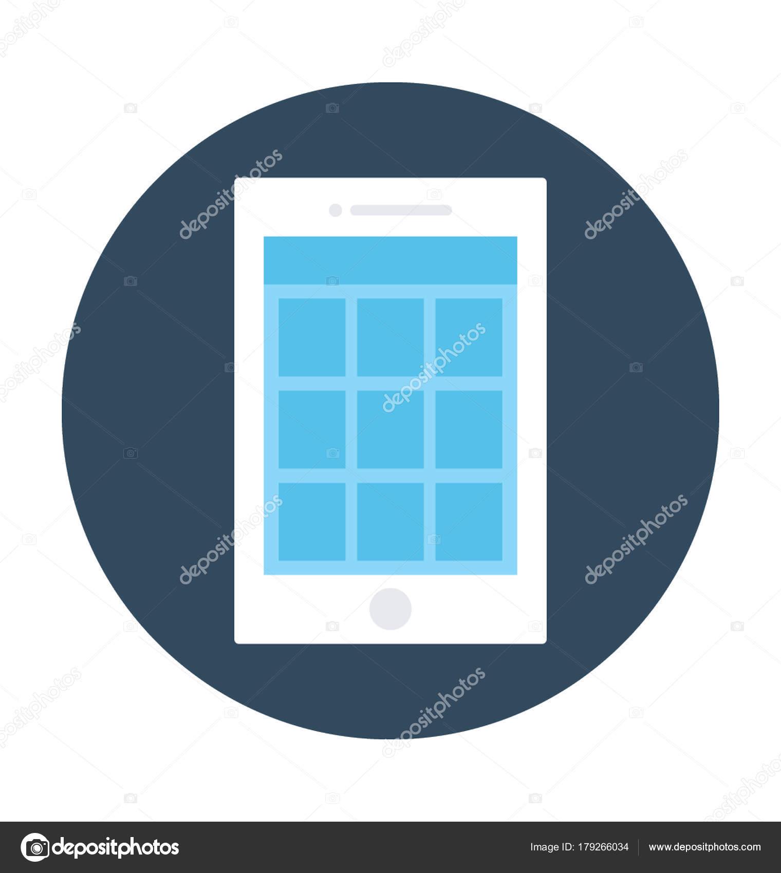 Mobile Wire Frame Vector Icon — Stock Vector © vectorsmarket #179266034
