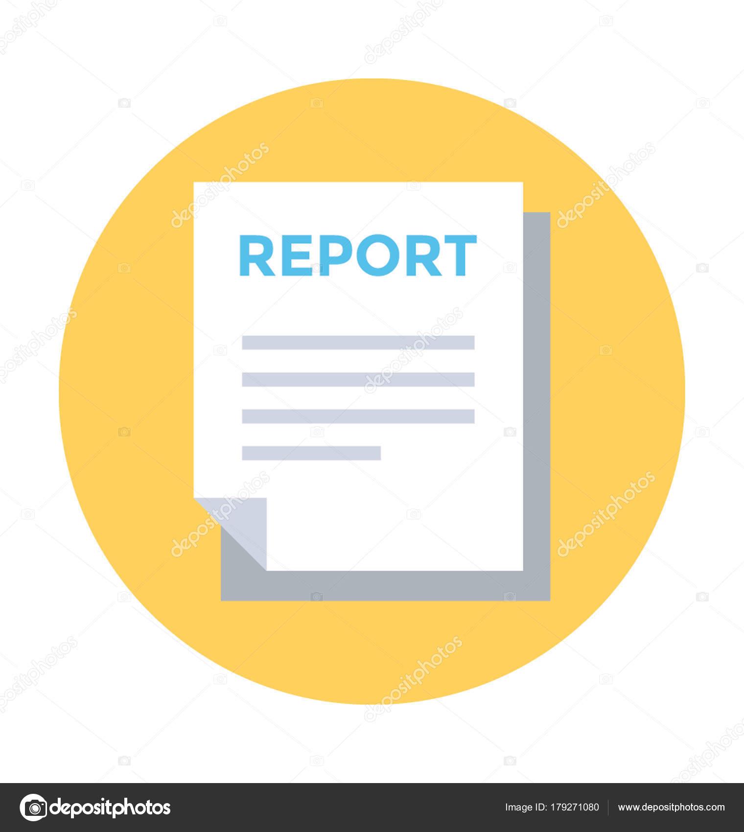 report flat vector icon � stock vector 169 vectorsmarket