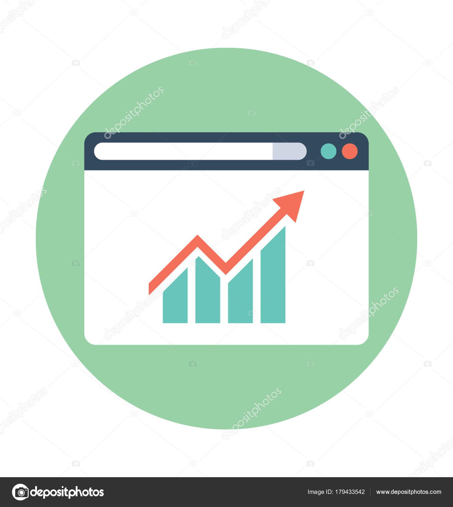 vetor web analytics plana Ícone vetores de stock vectorsmarket