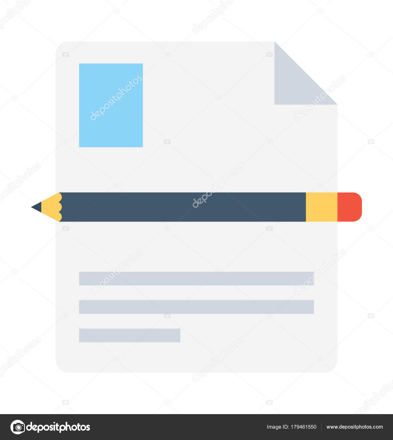 Reanudar la escritura plano Vector icono — Vector de stock ...