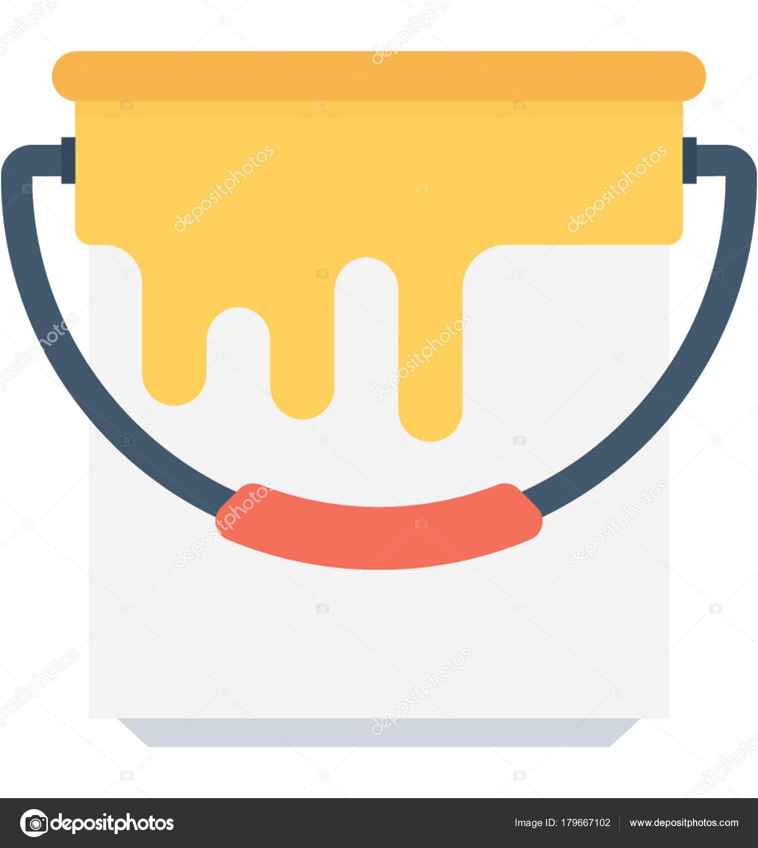 Paint Bucket Flat Vector Icon Vector Image By C Vectorsmarket Vector Stock 179667102