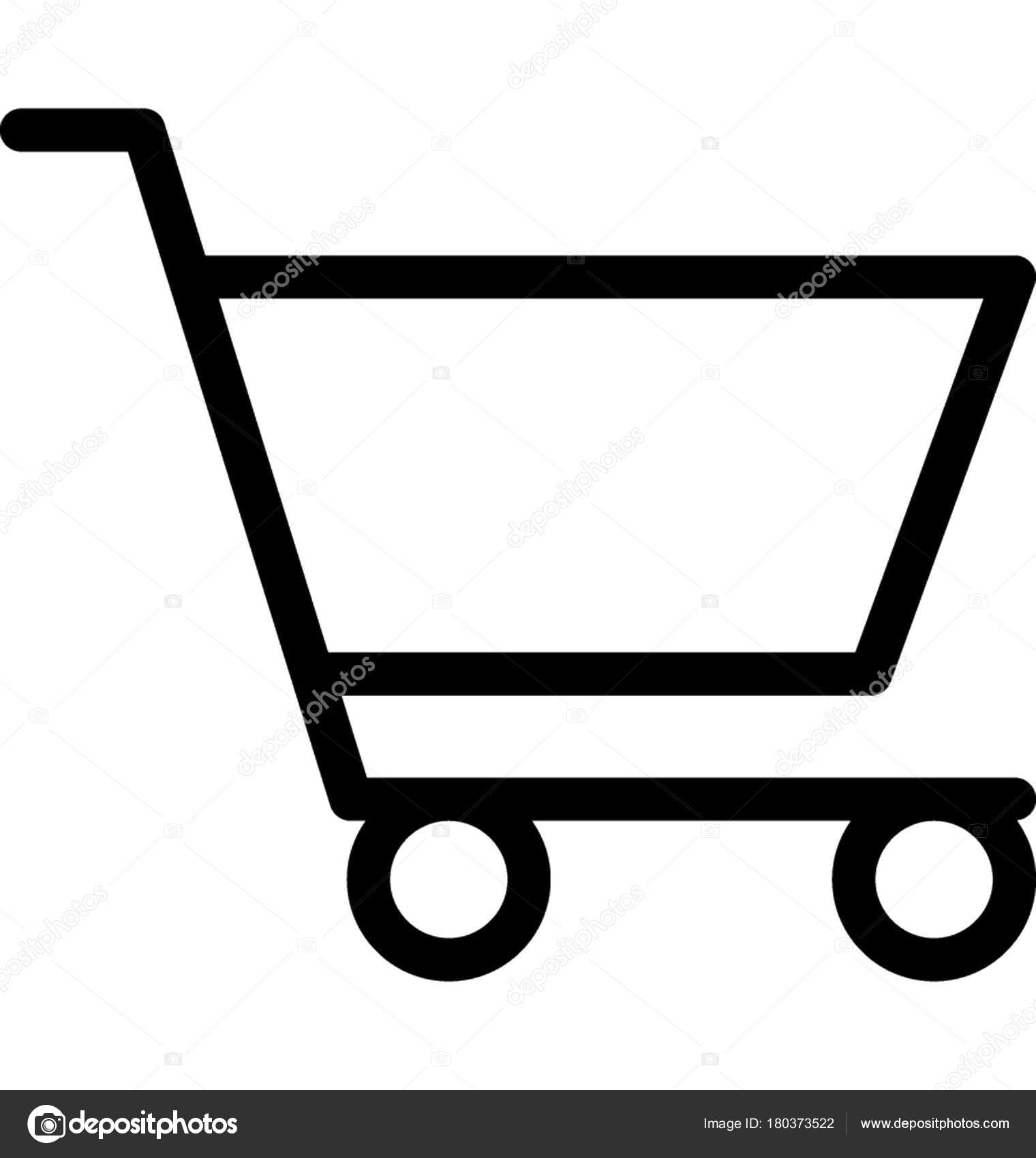 shopping cart vector line icon stock vector vectorsmarket 180373522 rh depositphotos com shopping cart vector png shopping cart vector free