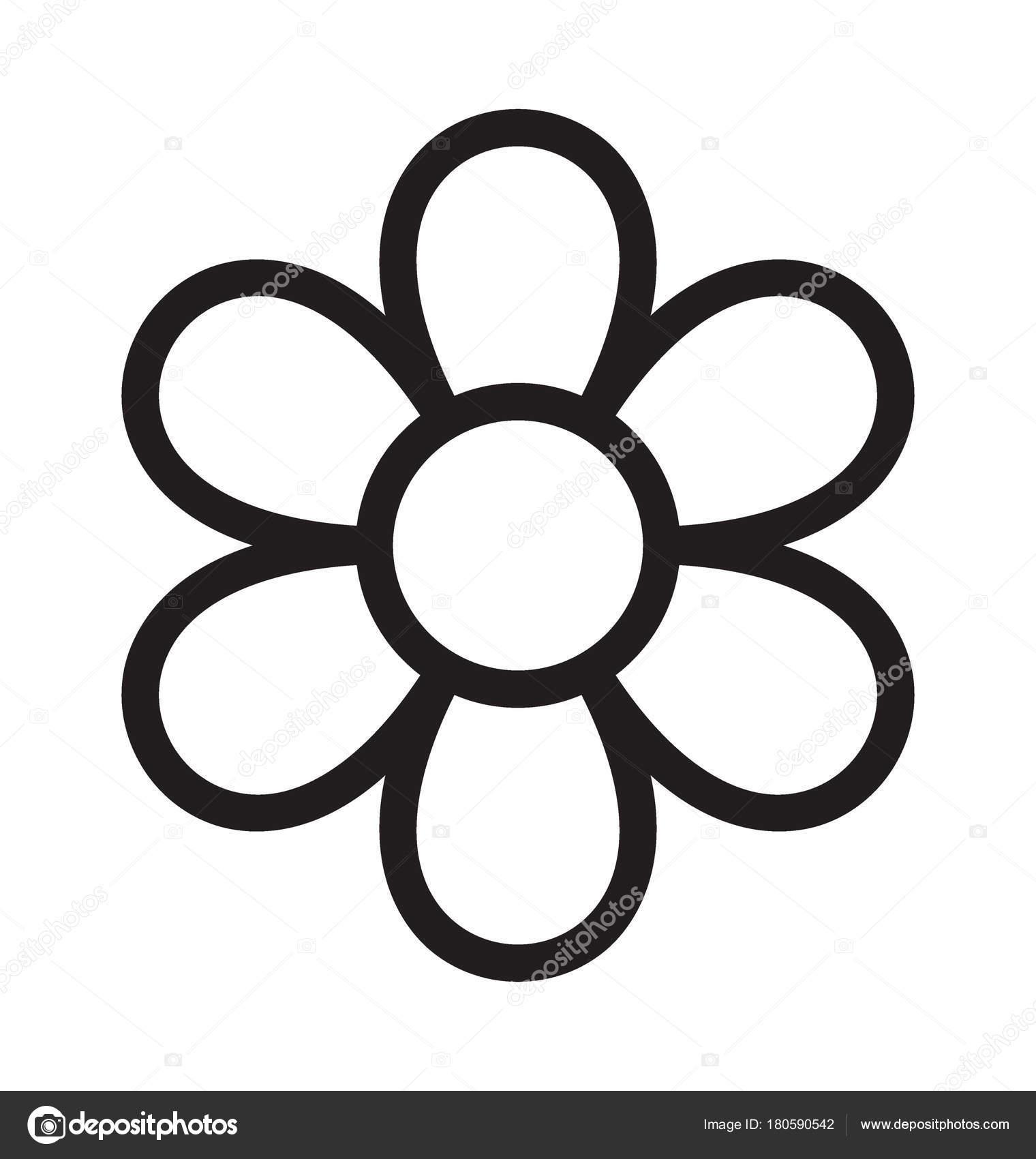 Flower Vector Outline Icon \u2014 Stock Vector © vectorsmarket