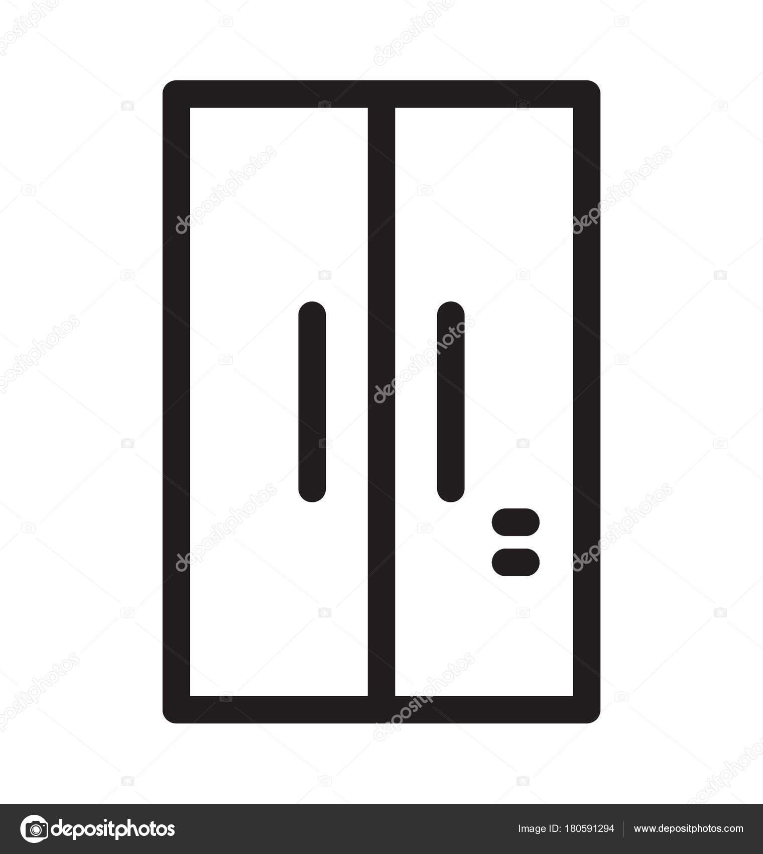 Double Door Fridge Vector Icon Stock Vector Vectorsmarket 180591294