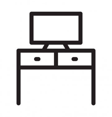 TV Stand Vector Outline Icon