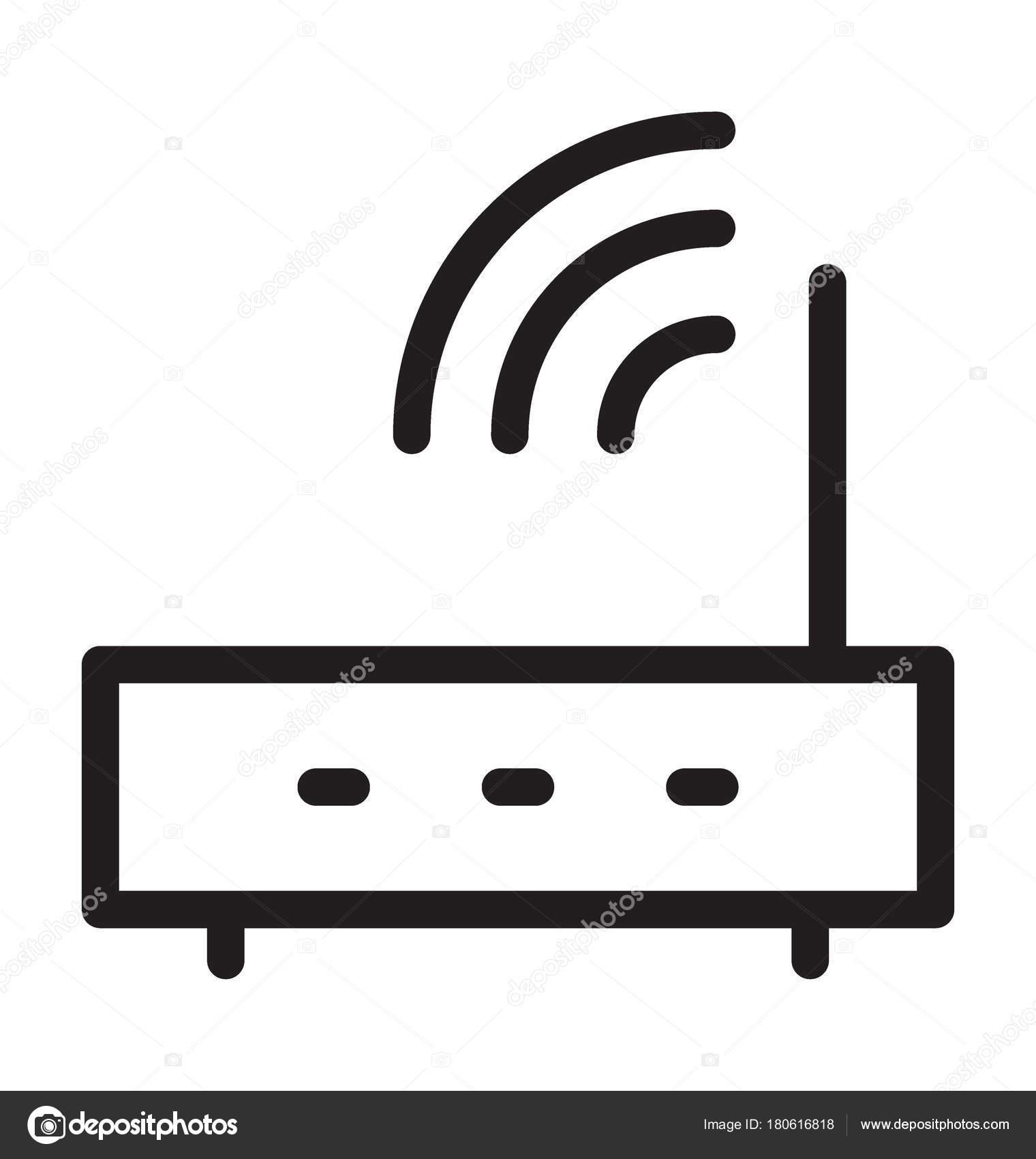 Wlan Router Linie Vektor Icon — Stockvektor © vectorsmarket #180616818