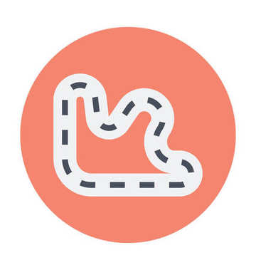 Race Track Colored Vector Icon